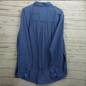 Chaps button shirt Sz. XL blue white black plaid